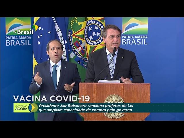 #AoVivo: Presidente Jair Bolsonaro sanciona PLs para aquisição de vacinas contra a #covid19