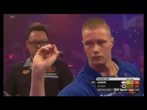 2016 BDO World Darts Championship Round 1 Harms vs Asada