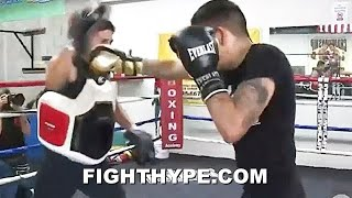 LEO SANTA CRUZ PIPE-BUSTING KO COMBOS FOR GERVONTA DAVIS; RELENTLESS VOLUME PUNCHES LIGHT UP MITTS