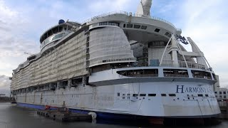4K | World´s Largest Cruise Ship HARMONY OF THE SEAS Under Construction at STX France