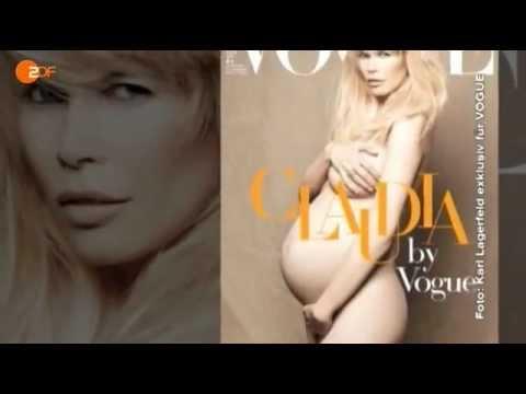 Беременная Клаудия Шиффер - Claudia Schiffer vogue Tribute 2010