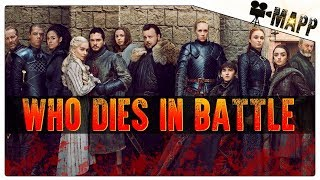 BATTLE OF WINTERFELL DEATH PREDICTIONS! GAME OF THRONES!