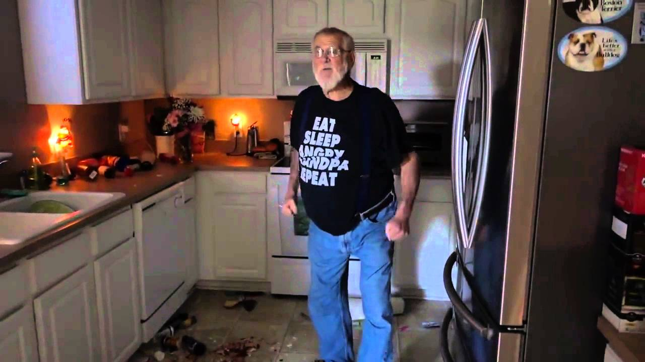 Angry Grandpa Is On Helium Destroys Pickleboys