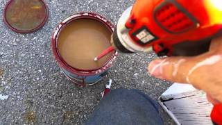 Mixing up old paint