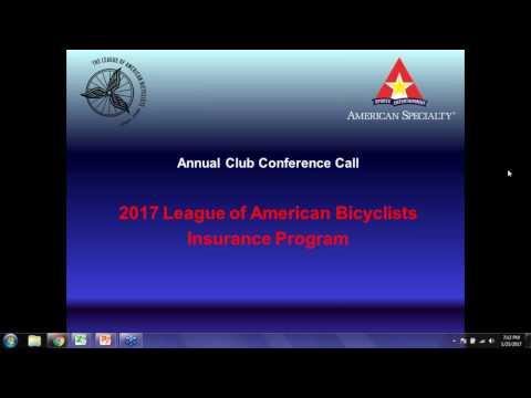 2017 Bike League Insurance Program Roll Out