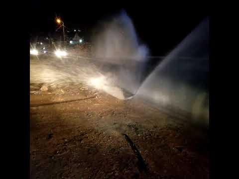 צפו: מים נשפכים בהר חברון בעקבות גניבות פיראטיות