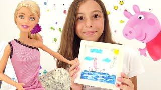 Барби и Свинка Пеппа рисуют. Приключения Барби - Мультики для девочек