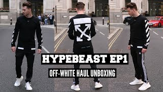 OFF WHITE Unboxing | Mens Fashion Try On Haul 2018 #HYPEBEAST EP1