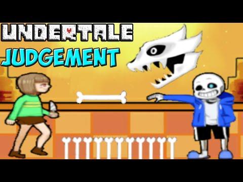 Undertale - Judgement | Sans и Chara в 2D битве