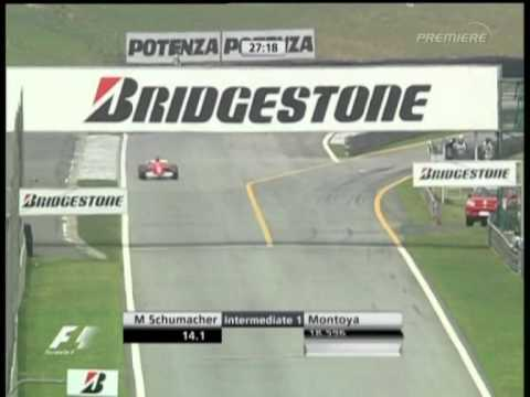 F1 Brazil 2005 FP4 - Michael Schumacher Action!