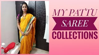 MY PATTU SAREES COLLECTION||AND LATEST DESIGNER BLOUSES