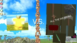 ROBLOX Booga Booga | HOW MUCH DAMAGE DOES EVERY WEAPON DO AGAINST GOD ARMOR?!?!