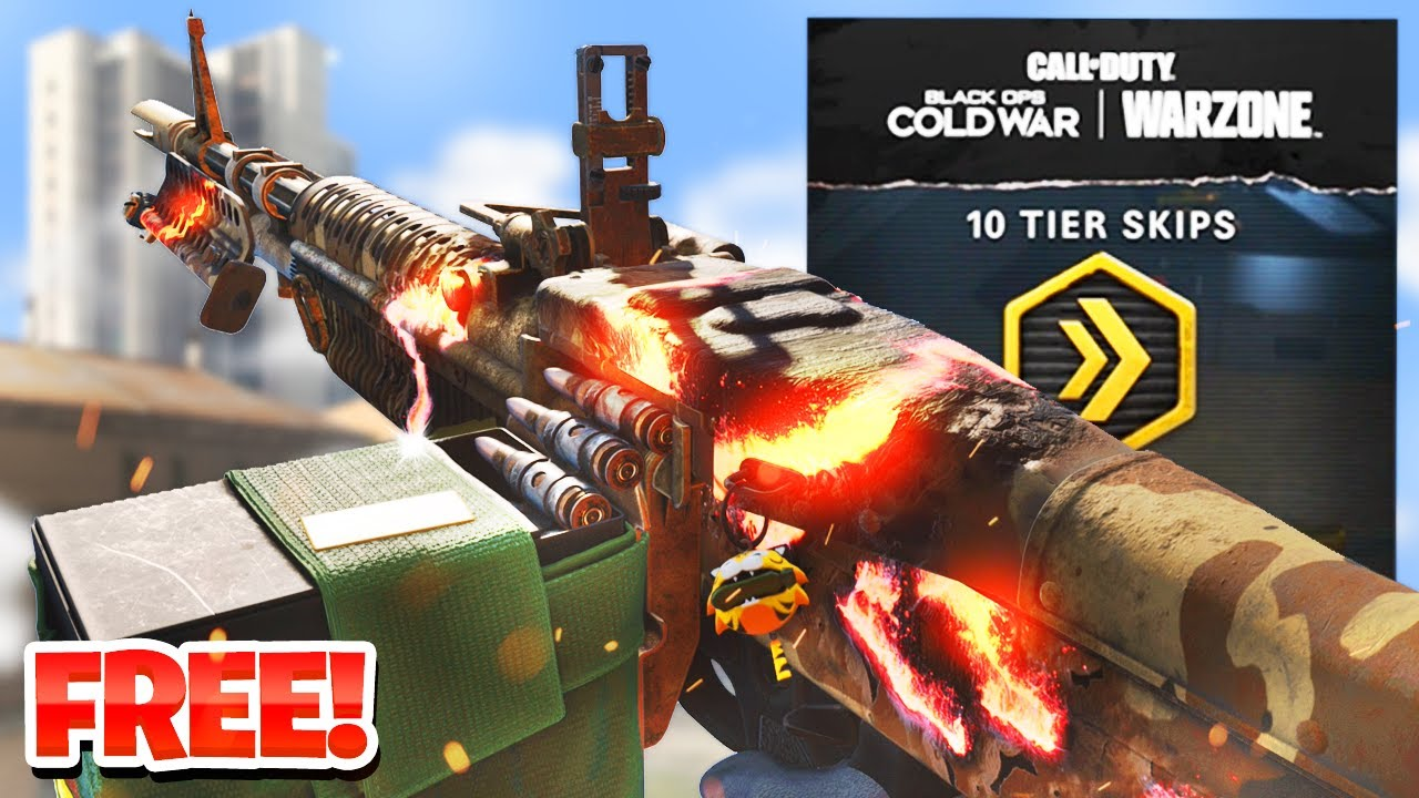 FREE BATTLE PASS TIERS AND REACTIVE CAMO! HOW TO UNLOCK FREE REWARDS IN COLD WAR WARZONE! (SEASON 4)