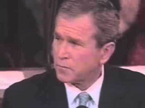 George Bush singing Sunday Bloody Sunday