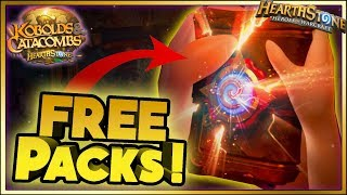 Hearthstone - FREE PACKS WTF Moments - Kobolds and Catacombs Funny Rng Moments