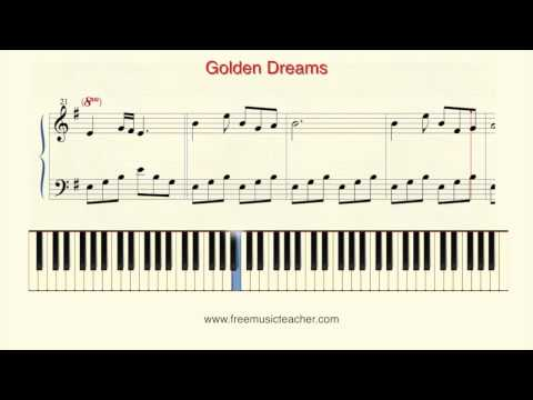"How To Play Piano: ""Golden Dreams"" Piano Tutorial by Ramin Yousefi"