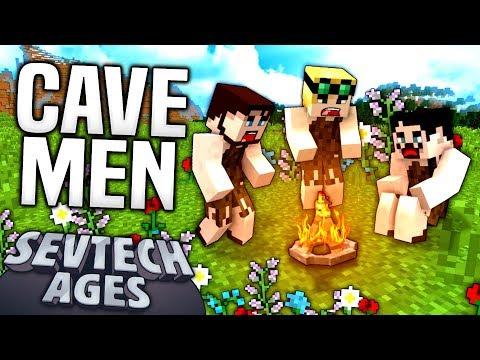 Minecraft - CAVE MEN - Sevtech Ages #1