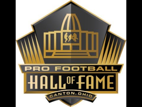 AT THE PRO FOOTBALL HALL OF FAME!