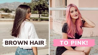 Bleaching My Own Hair & Dyeing it PINK