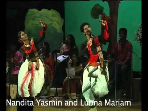 Dui haate kaler mondira - Tagore and the West Chorus with group dance, Courtesy Shadhona
