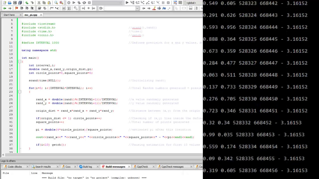 Estimating the value of Pi using Monte Carlo - GeeksforGeeks