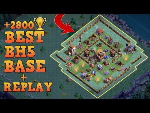 Builder Hall 5 Base / BH5 Builder Base w/Replay!! / Anti 3 Star Base Layout | Clash of Clans