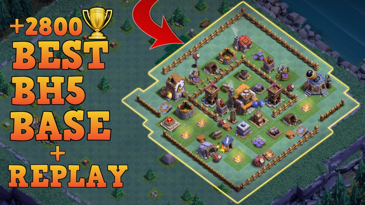 Builder hall 5 base bh5 builder base w replay anti 3 Best builder house 4 base