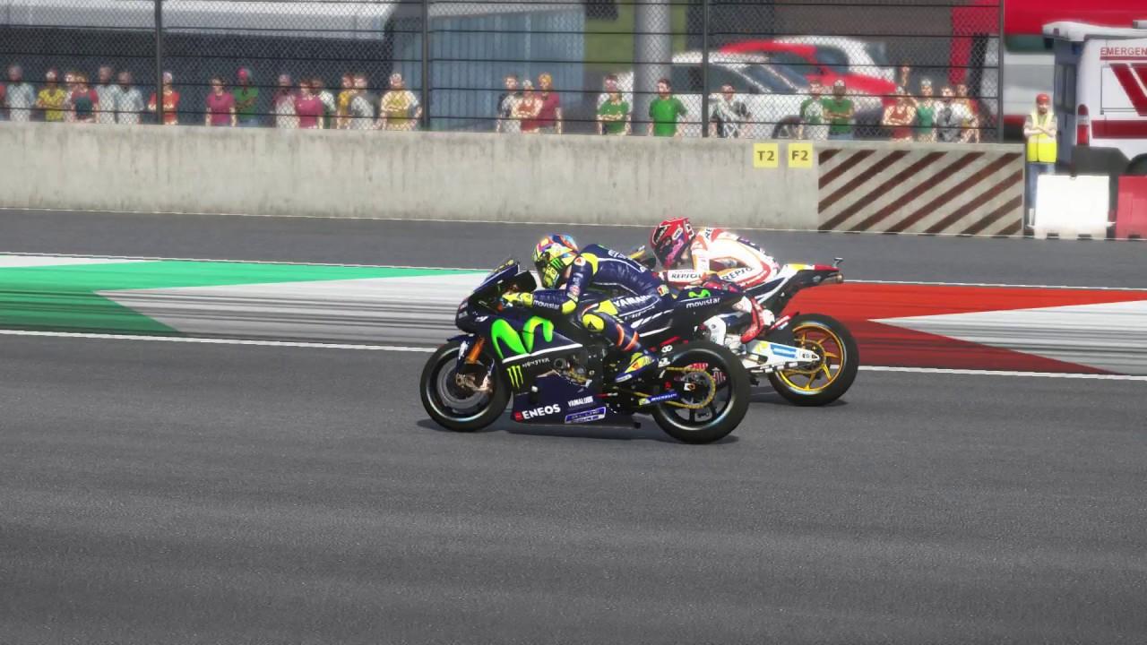 MotoGP MOD 2017   VALENTINO ROSSI   TV REPLAY CAM   MUGELLO   (VRTG) - YouTube