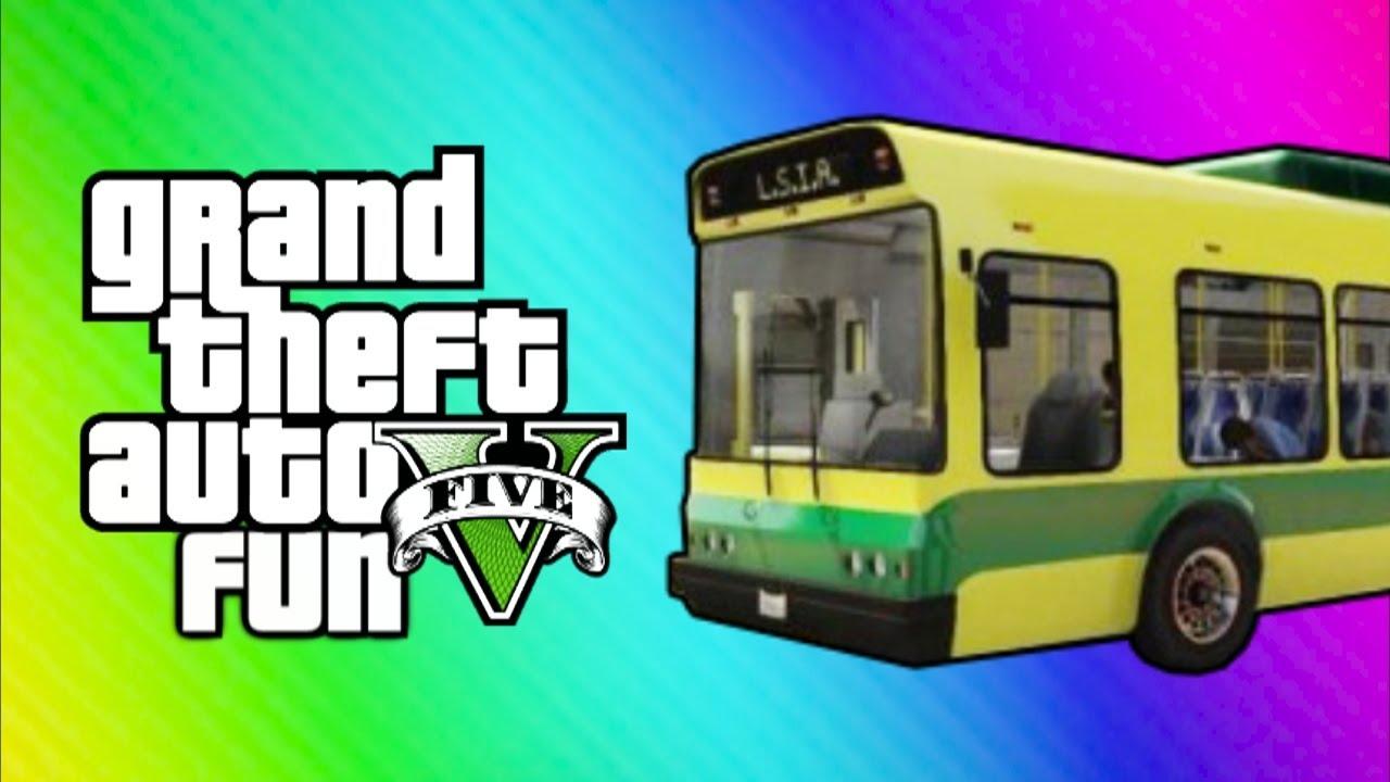 GTA Online Funny Moments - Home Run, Vehicle Glitch Fun, Banana Bus Launch, Vanoss Bus