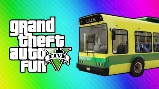 GTA Online Funny Moments - Home Run, Vehicle Glitch Fun, Banana Bus Launch, Vanoss Bus