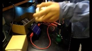 solcelle forsøg af jens og morten