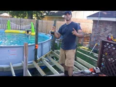 Pool and deck alberca y terraza for Piscina plastico rectangular