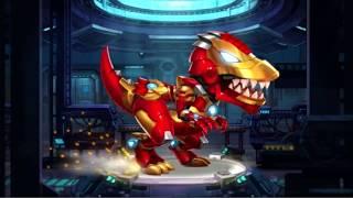 Dinobot Battle: Iron T-Rex & Ankylosaurus (Team Fight) | Eftsei Gaming