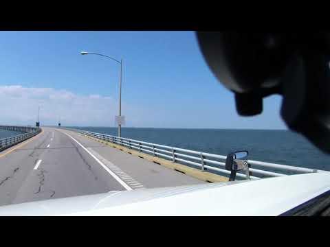 Garmin Dezl Cam LMTHD 6 Inch (Raw Dashcam Footage) Chesapeake Bay Bridge Tunnel