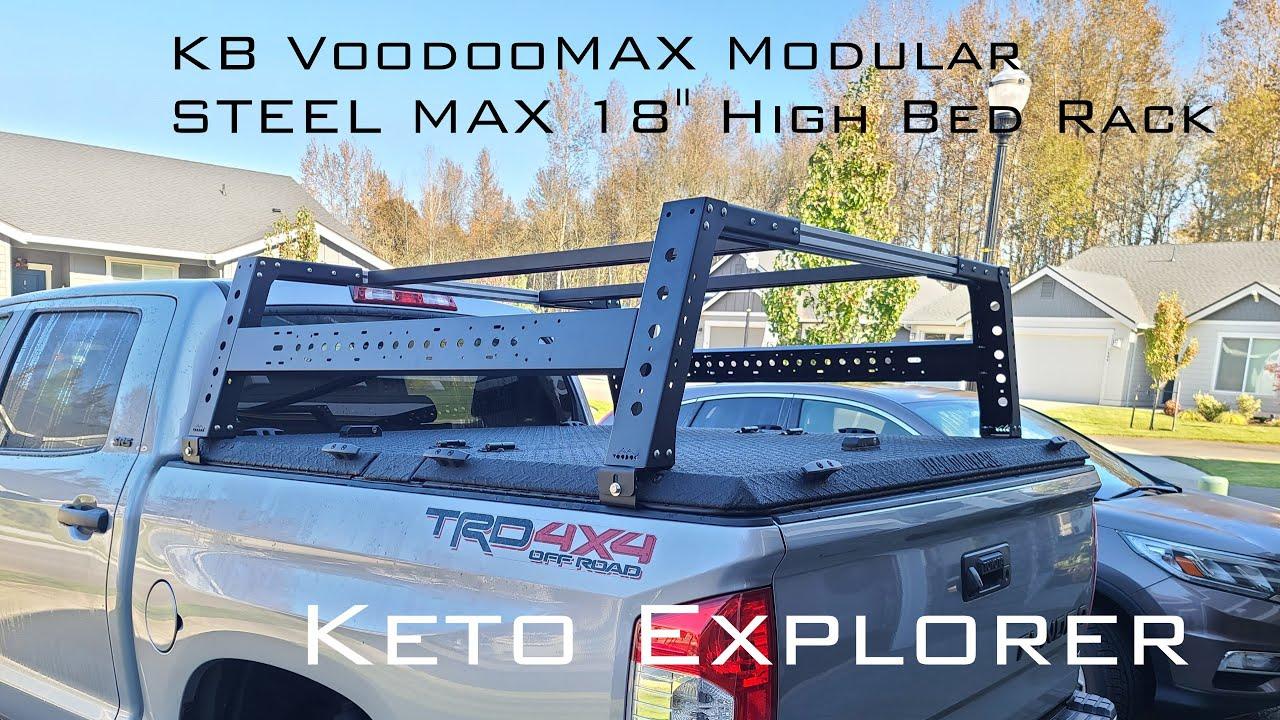kb voodoo max modular steel max 18 high bed rack
