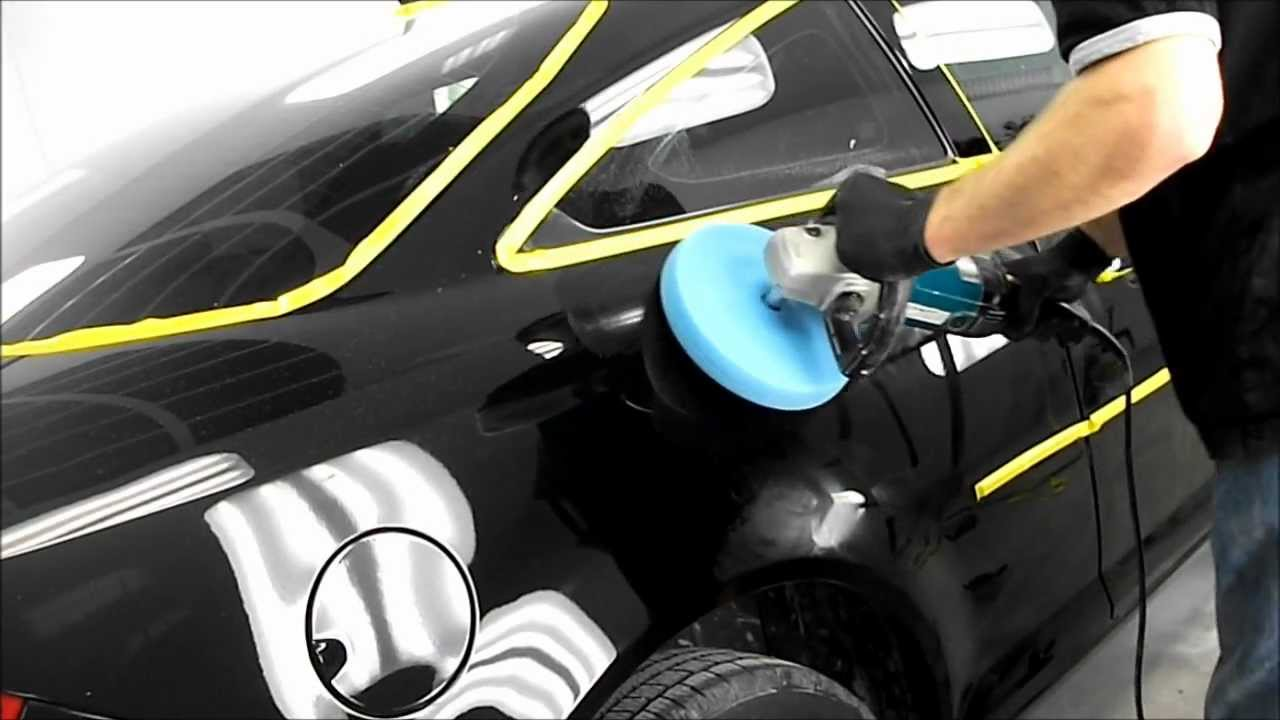 how to polish a black car youtube