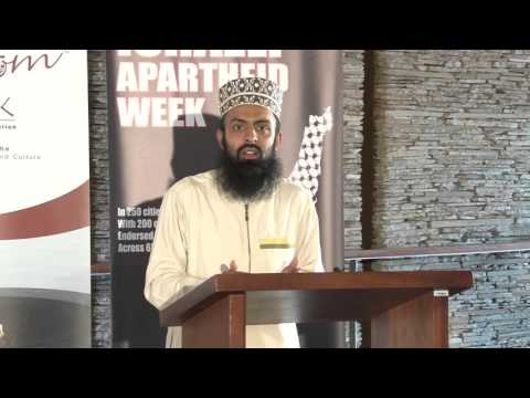 Abdurrahman Laily from the SA Muslim Community speaking at #IsraeliApartheidWeek