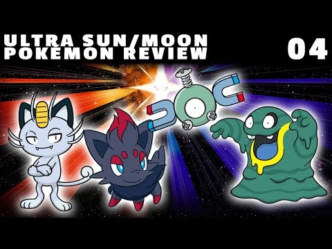Ultra Sun/Moon Pokémon Review: Route 1 (Trainers' School) (Meowth, Zorua, Magnemite & Grimer)