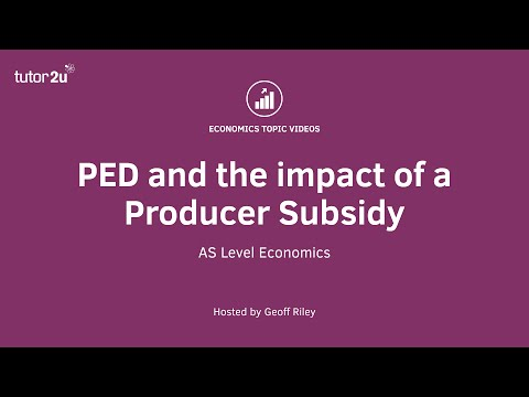 PED and the Impact of a Producer Subsidy