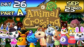 Animal Crossing: New Leaf – Day 26 : Part A – Sep. 23 – Kitty Fell Sick!