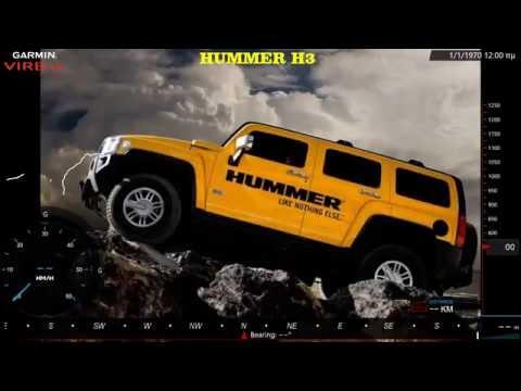 Garmin VIRB XE / Hummer H3 / Dirt Road Greece,Ziria POV(Hood,Mask,Top)