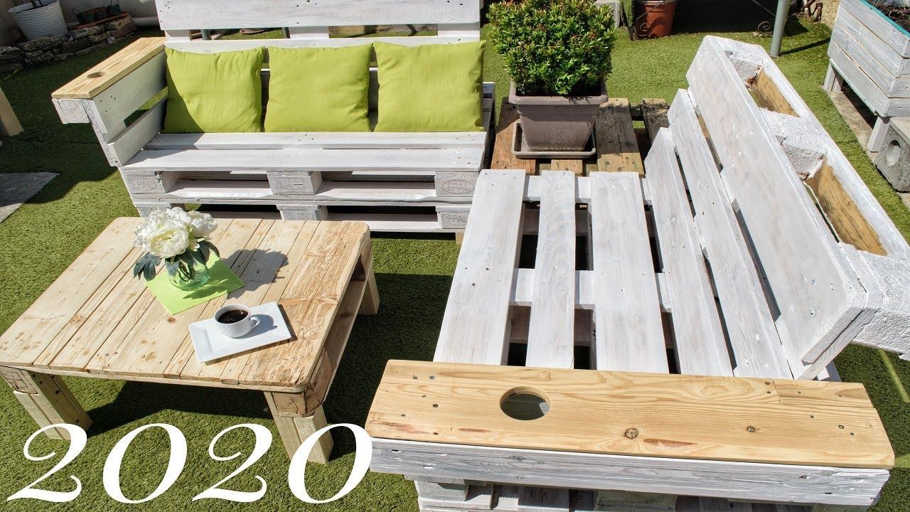 fabriquer un salon de jardin en palettes facile et pas cher
