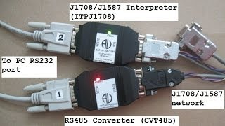 cvt485 tx rx function on sae j1708 j1587 network