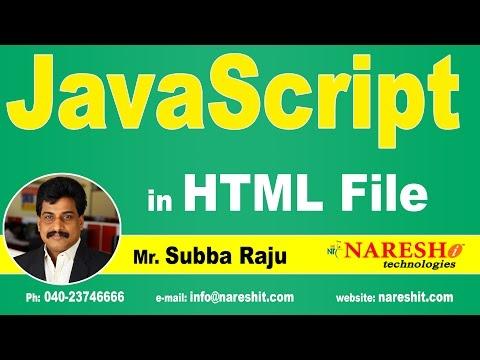 JavaScript In HTML File   JavaScript Tutorial   Mr. Subba Raju