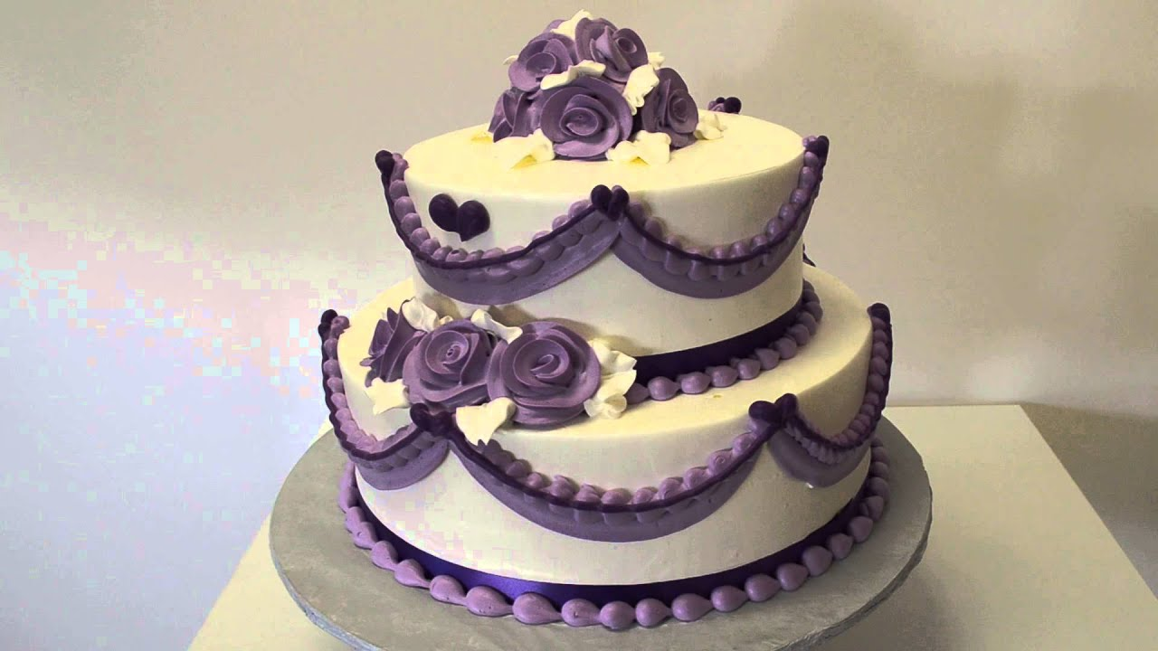 Purple wedding cake purple cake youtube junglespirit Choice Image