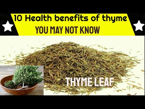 10 Health Benefits of Thyme Leaf You May Not Know Even As You Are About To watch This Video.