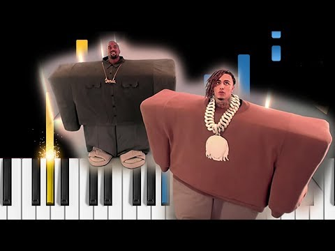 Kanye West & Lil Pump - I Love It - EASY Piano Tutorial