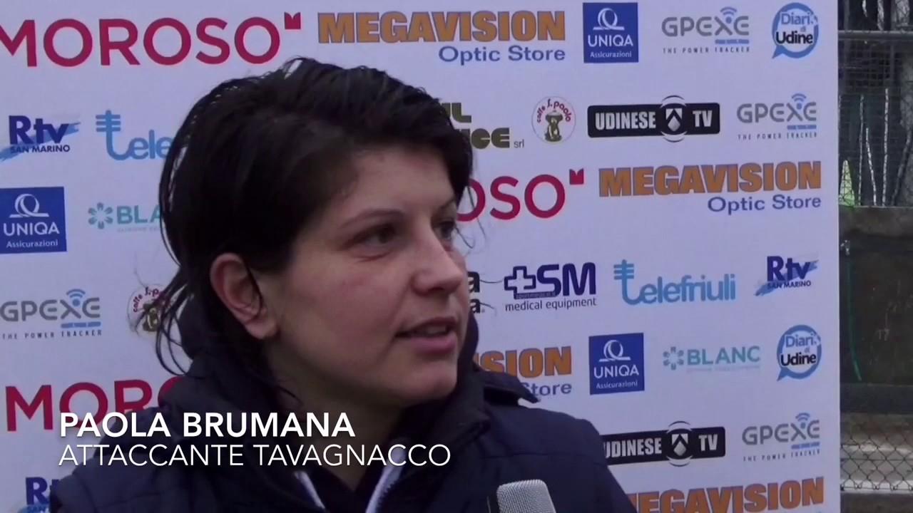 Paola Brumana post San Zaccaria-Tavagnacco 2-2