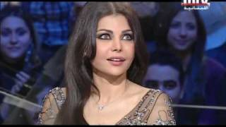 Haifa Wahbe on MTV Lebanon (ARABIC) Part 1
