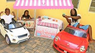 Yaya's Drive Thru Ice Cream Stand Kids Pretend Play